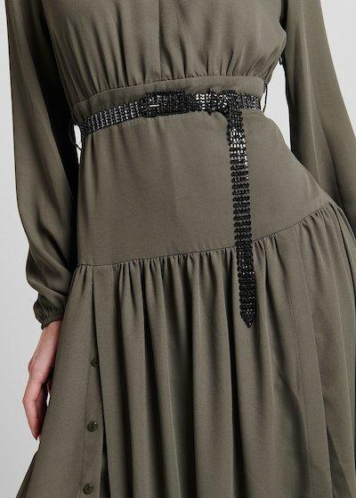 Cintura Cairan in maglia di strass