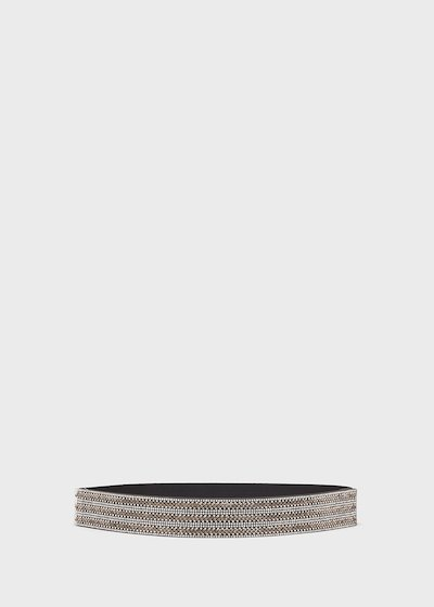 Cruel elastic belt with crystals detail