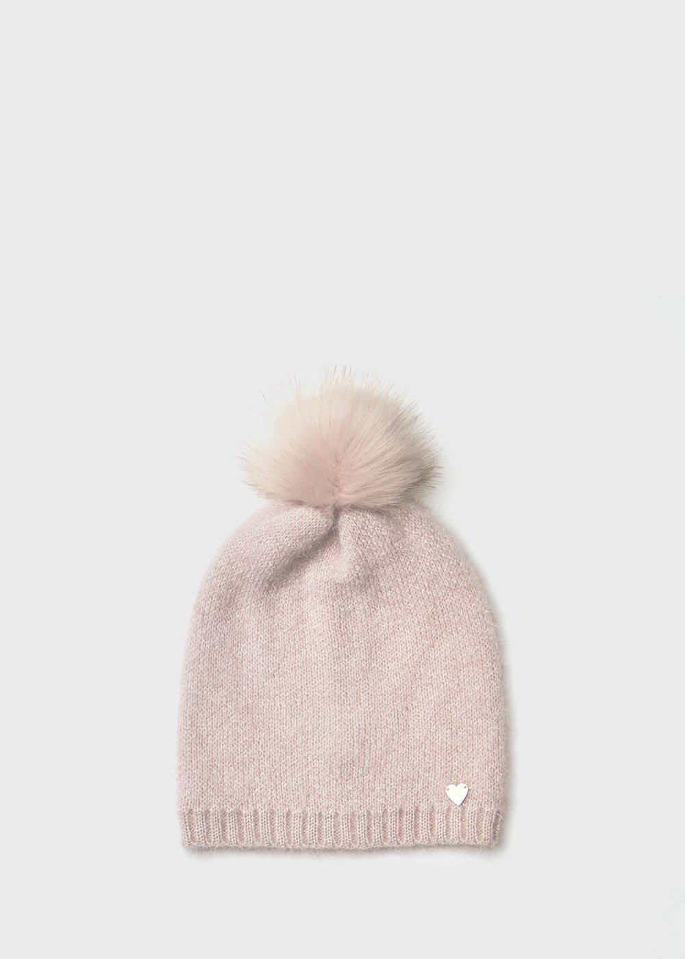 Fur - effect Cam hat - Sepia - Woman