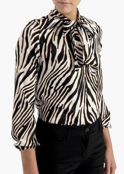 T-shirt Suami stampa zebra in tessuto fluido