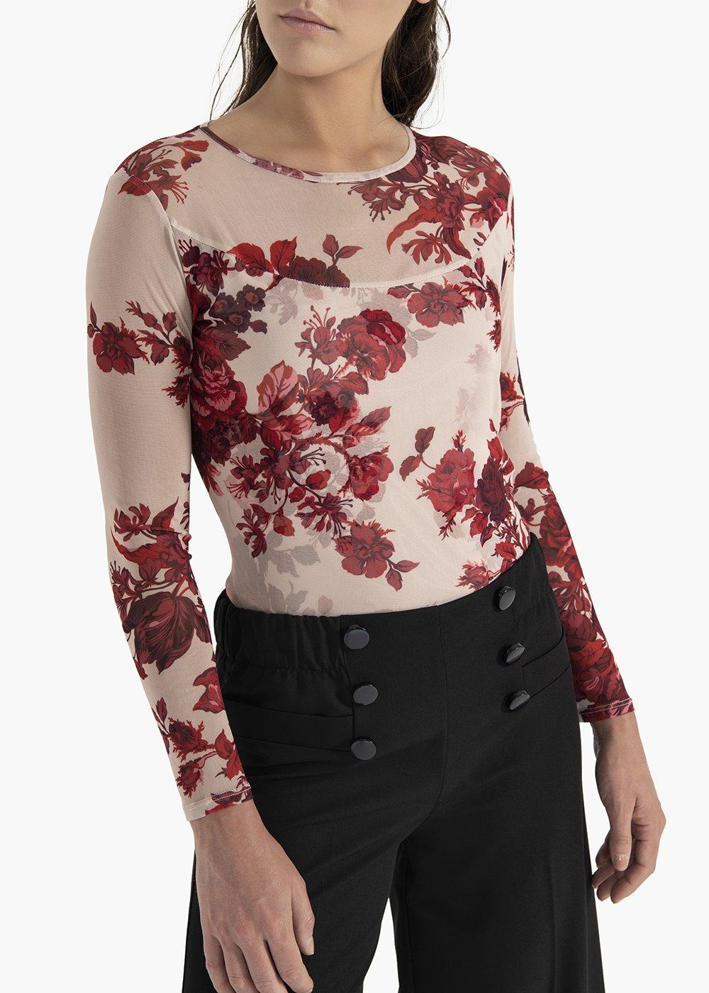 Floral print jersey t-shirt Sofia - Grezzo /  Passione Fantasia - Woman