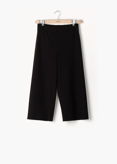 Trousers Passione in milano stitch with wide leg
