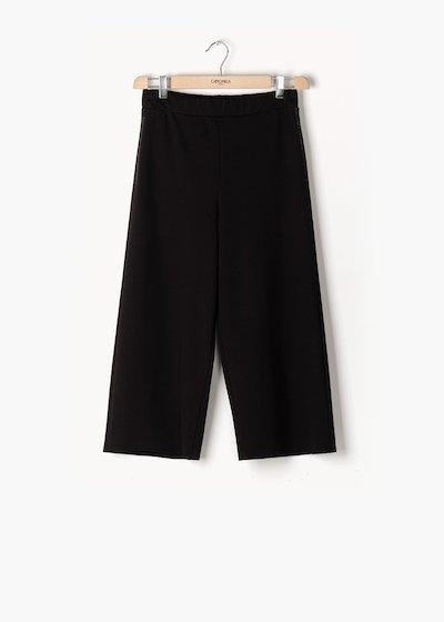 Pantaloni Passione in punto milano a gamba ampia