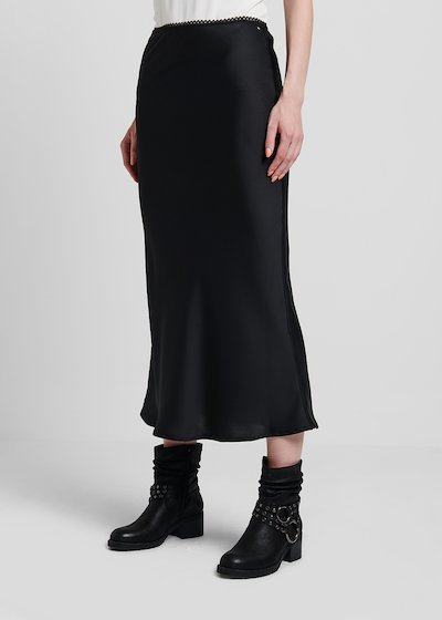 Gisel skirt in faux-satin fabric