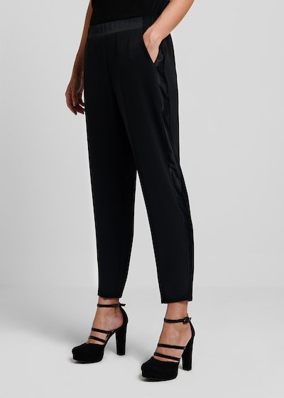 Palide trousers with side satin bands