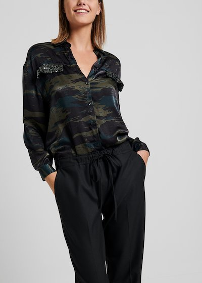 Carey shirt with camouflage print  and with sequins