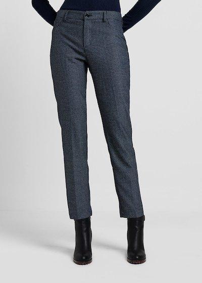 Pantalone modello Kelly D in tessuto jacquard