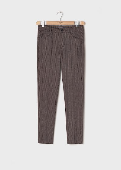 Kate C trousers with micro pattern