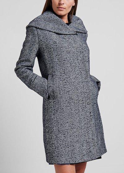 Coat with maxi hood