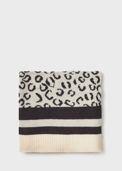 Sanina scarf with animal print