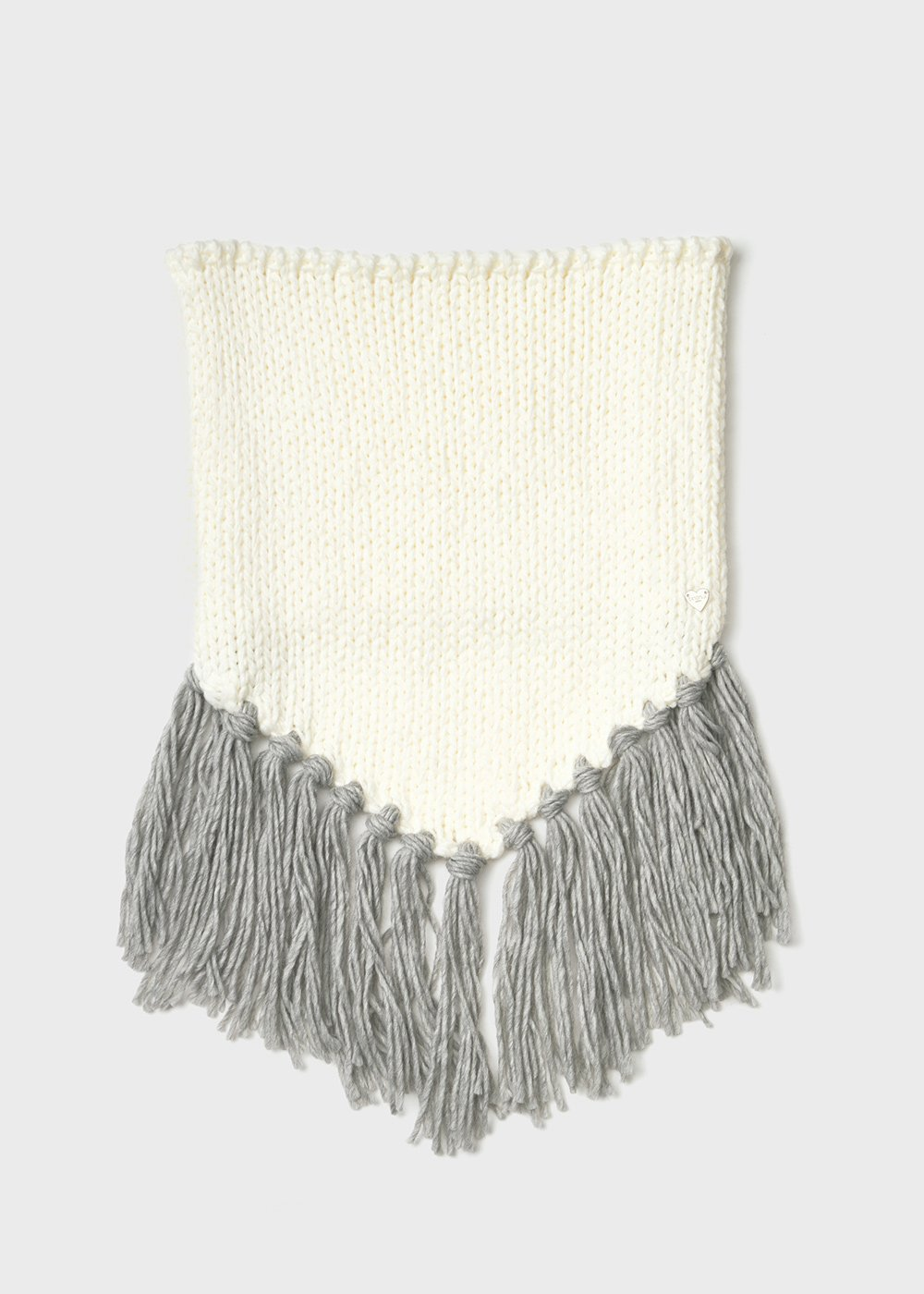 Sfray scarf with fringes detail - Grezzo / Grey - Woman