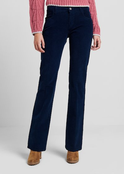 5-pocket flared velvet trousers