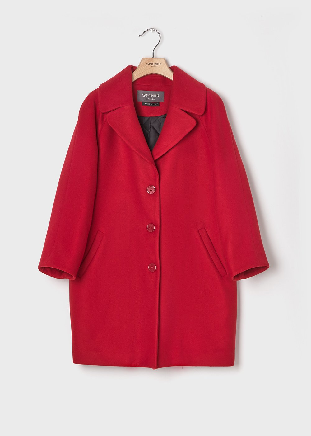 Passion red-coloured coat with padded lining - Chili - Woman