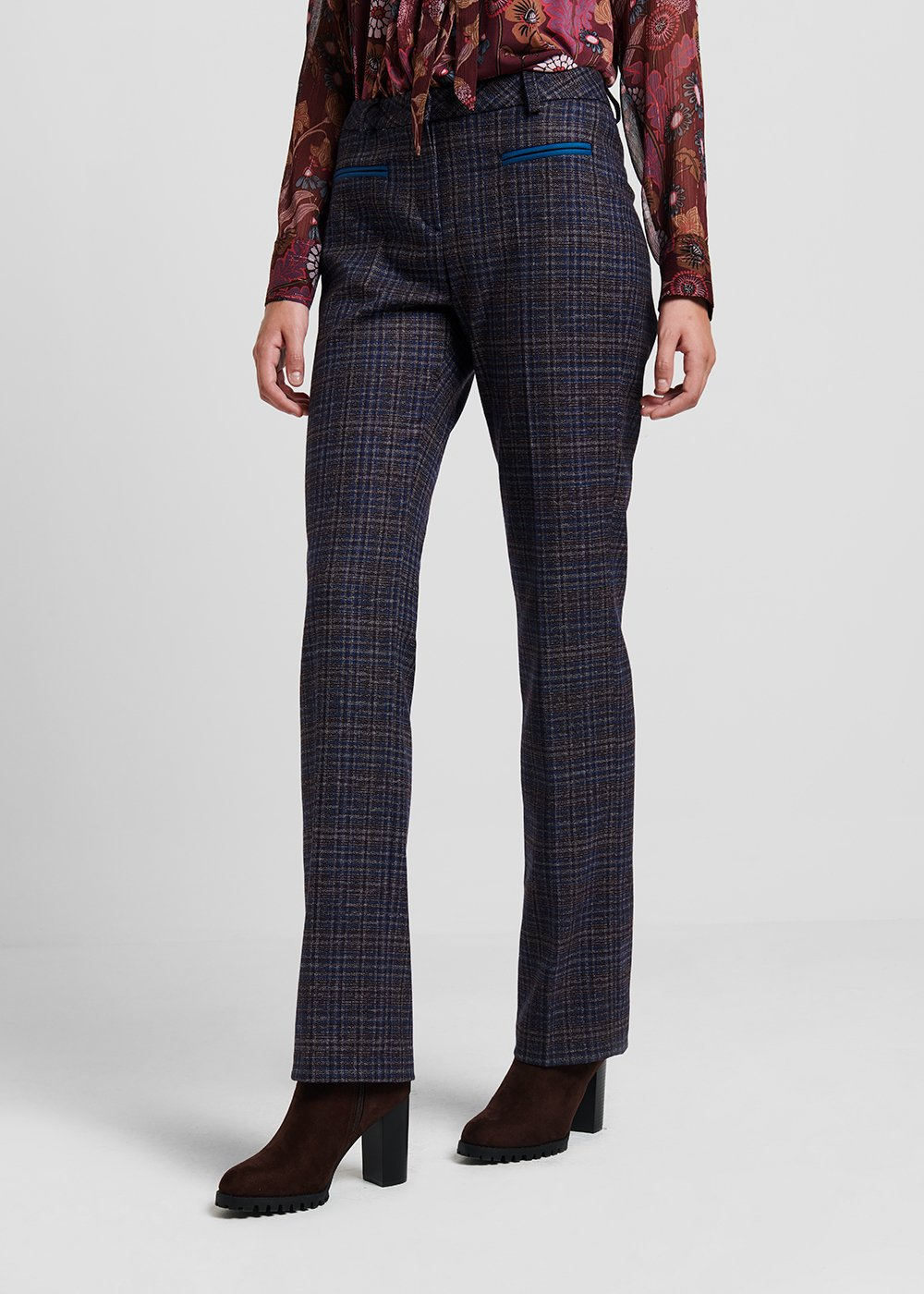 Miranda C trousers in check fabric