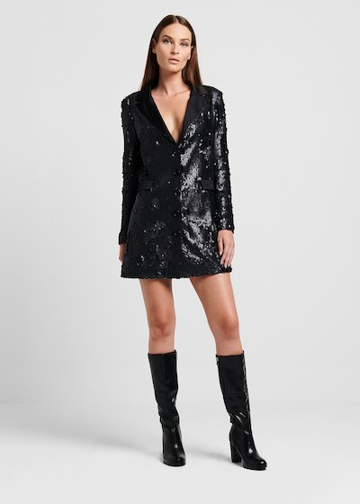 Giacca lunga in paillettes