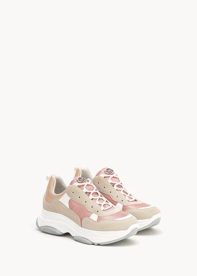 Skin sneakers in technical fabric