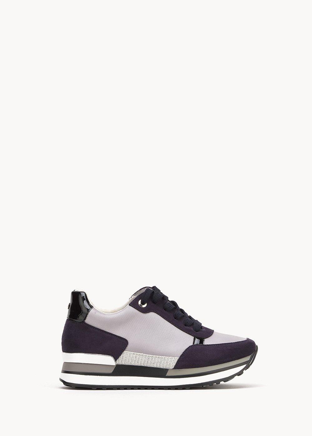 Soel sneakers in technical fabric - Marina / Silver - Woman