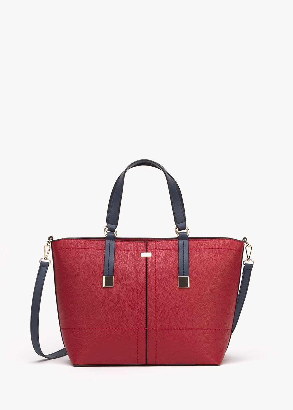 Bruni shopping bag with macro threadings - Red - Woman