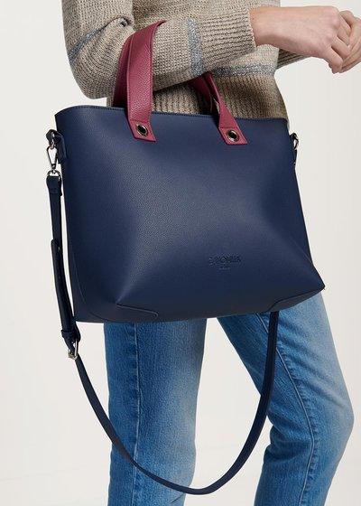 Bessie two-tone shopping bag