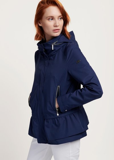 Gayl jacket in technical fabric with wraparound collar