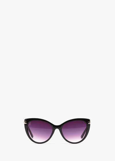 cat model sunglasses with matching frame