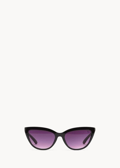 Sunglasses with animal-printed frame
