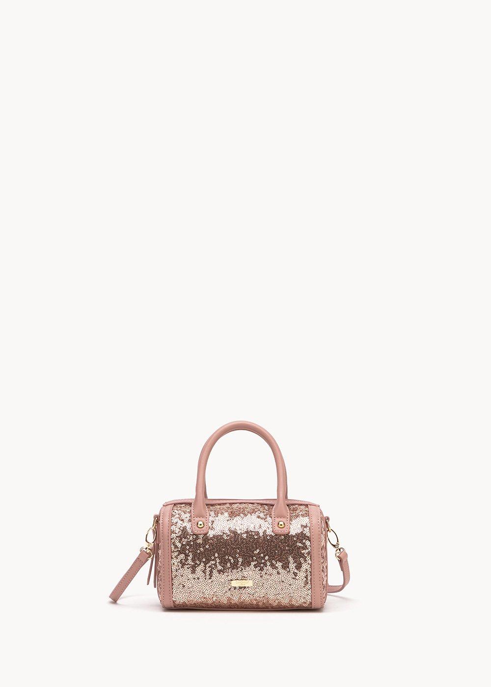 Beryl bowler bag with sequins - Lips - Woman