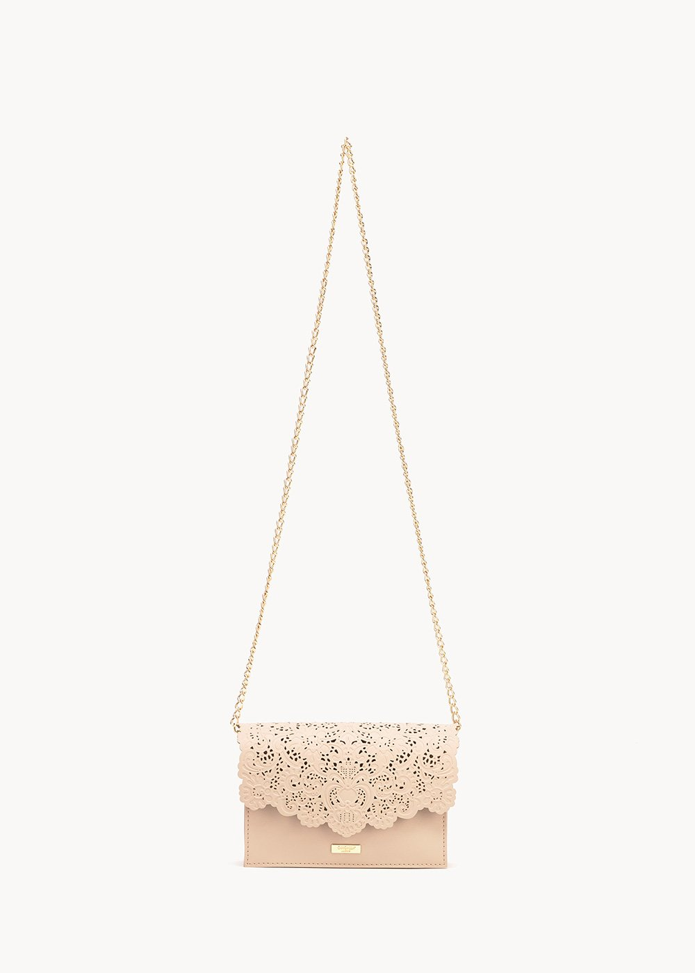 Bonnie shoulder bag with openwork - Pink - Woman