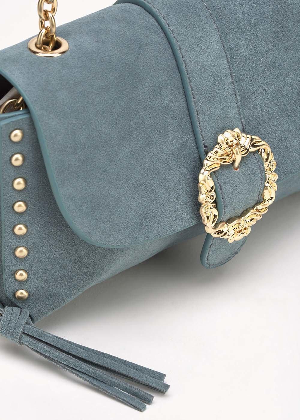 Brigid clutch bag with studs - Fog - Woman