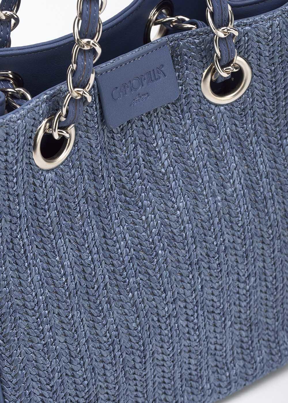 Shopping bag Micro Camo Girl in raffia - Avion - Donna