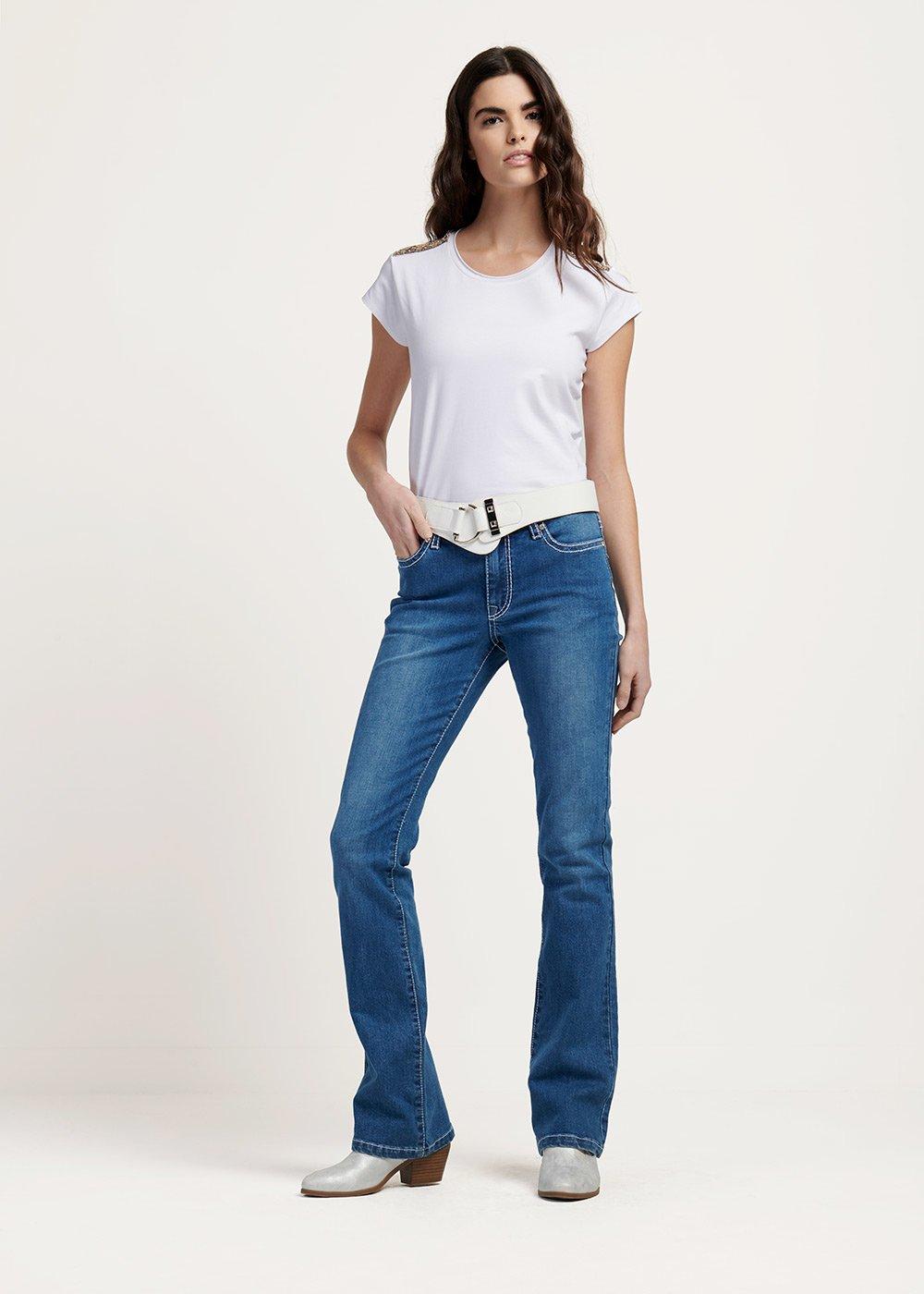 Pantalone denim Daryl cinque tasche - Medium Denim - Donna