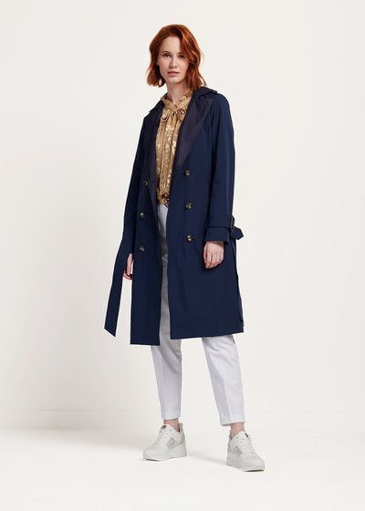 Theo double-breasted raincoat with lapels