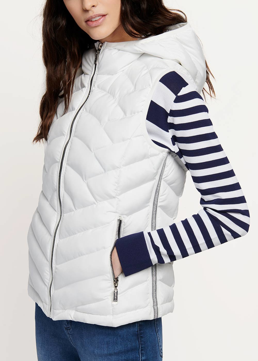 Gavin padded jacket without sleeves - White - Woman