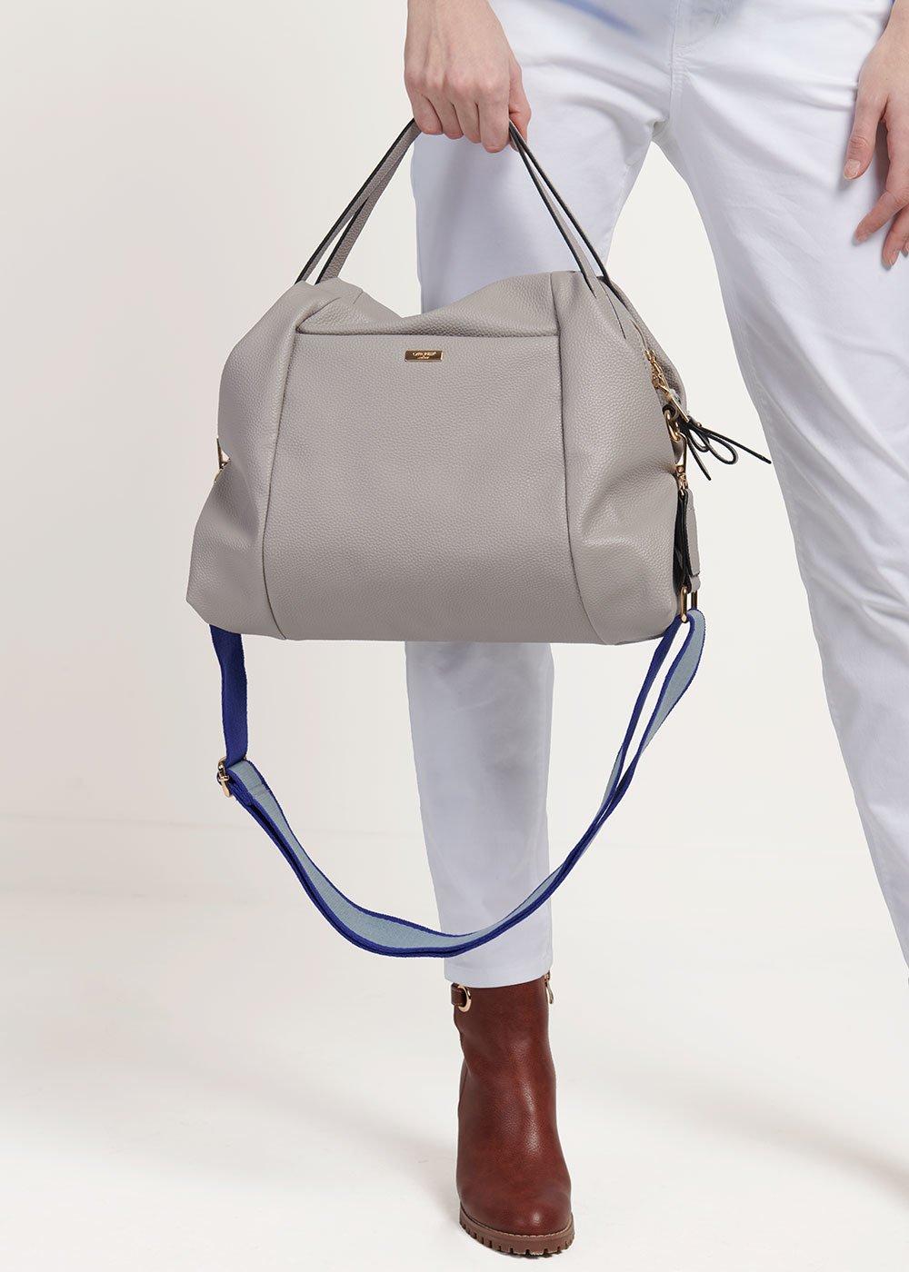 Shopping bag Baily con dettaglio tracolla - Grey - Donna