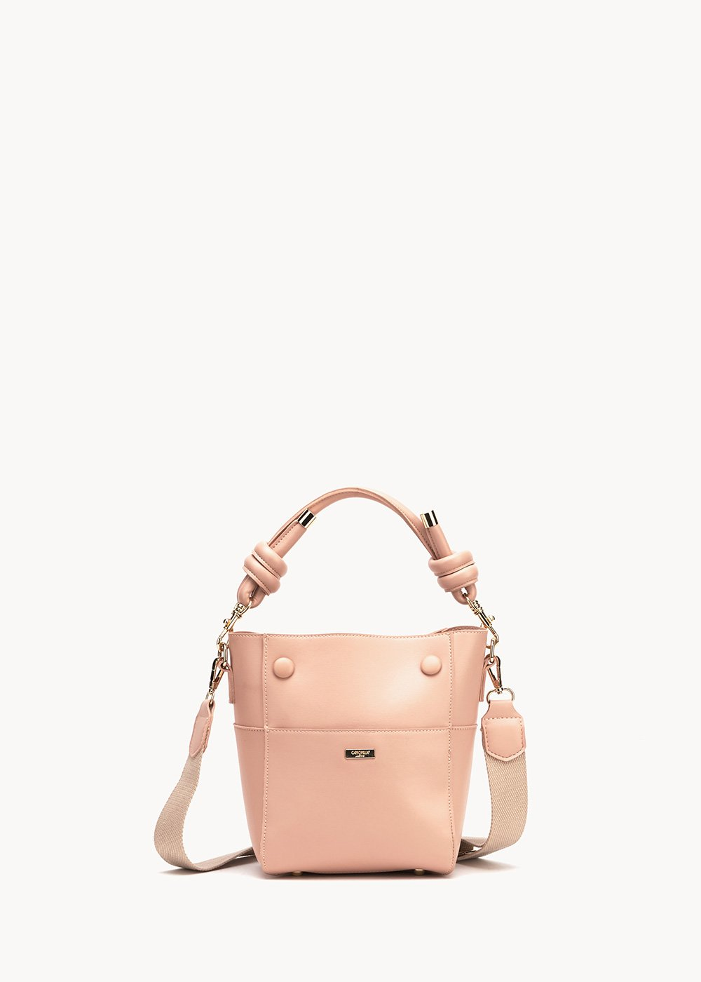 Barrot shoulder bag with small knots - Rose - Woman