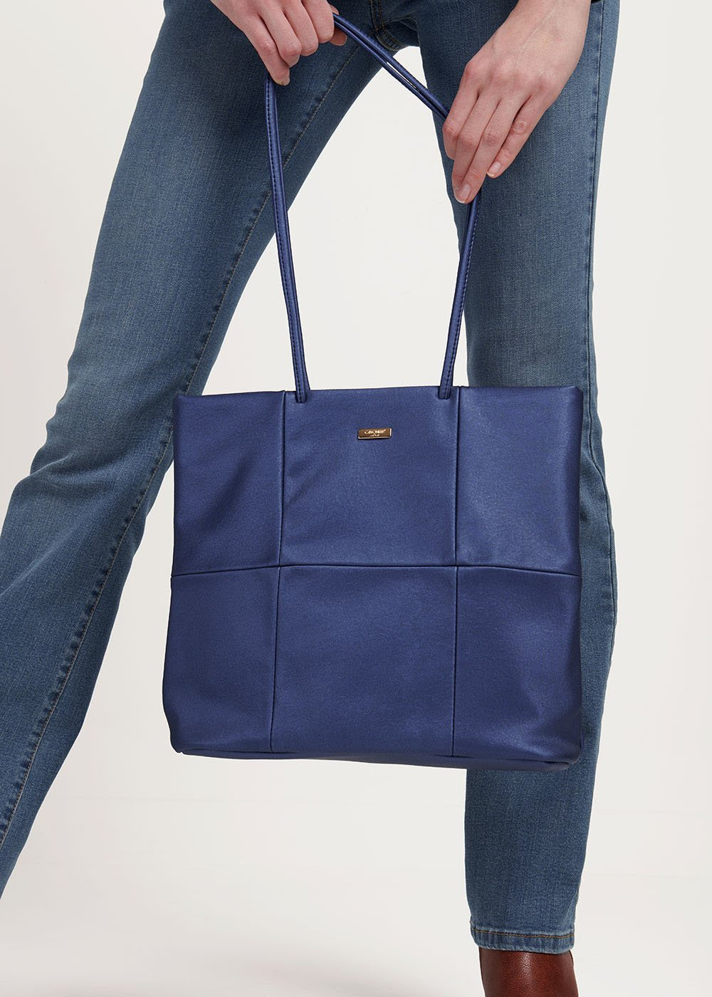 Badel shopping bag with long handle - Blue - Woman