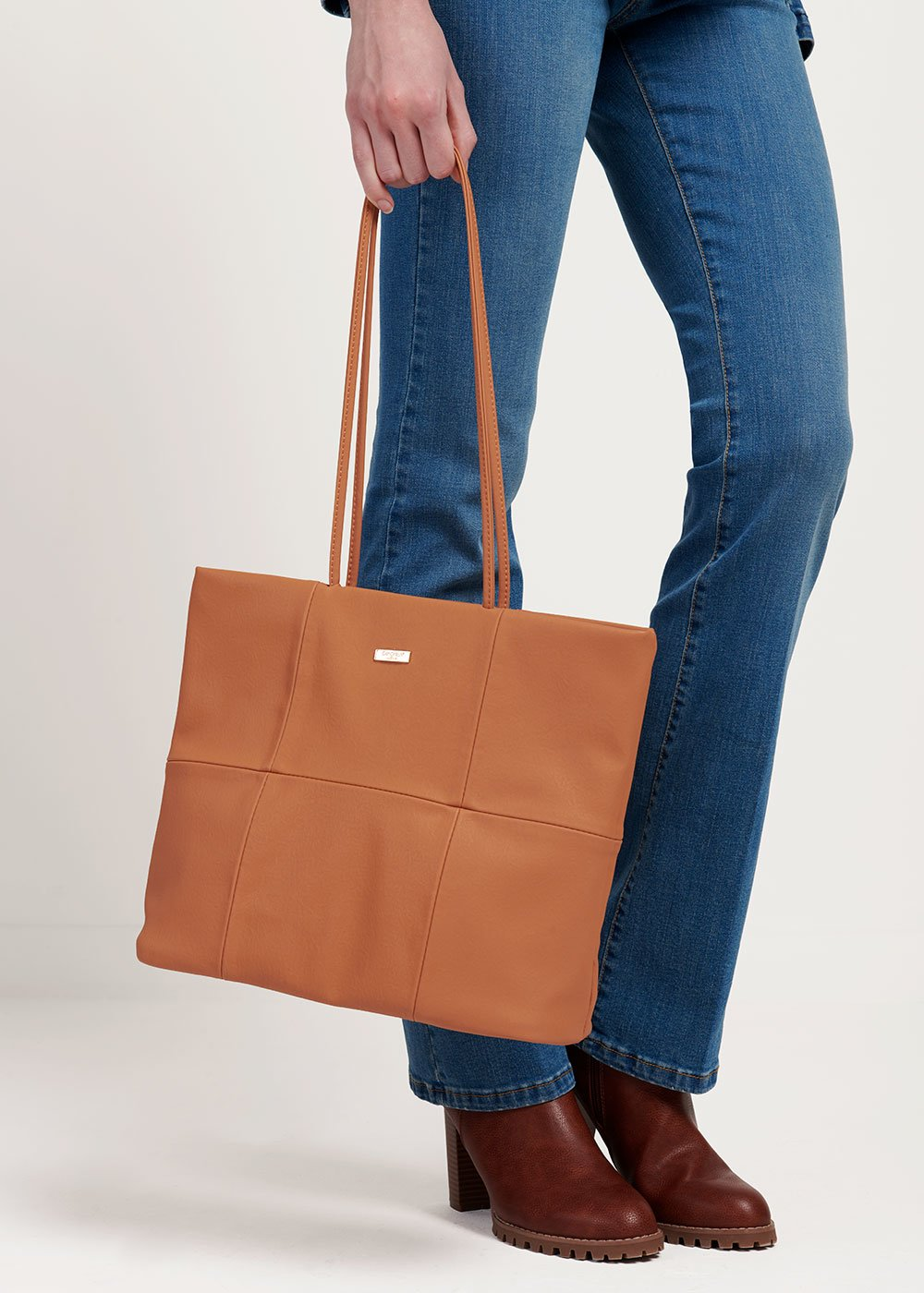 Badel shopping bag with long handle - Papaya - Woman