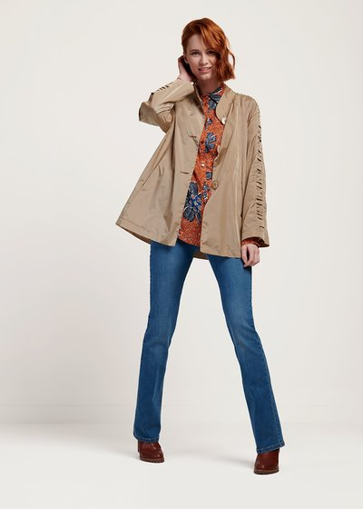 Trevor trench coat with raglan sleeves