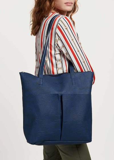 Blanche shopping bag with ruffles