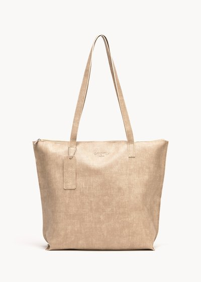 Beatrice faux-leather shopping bag