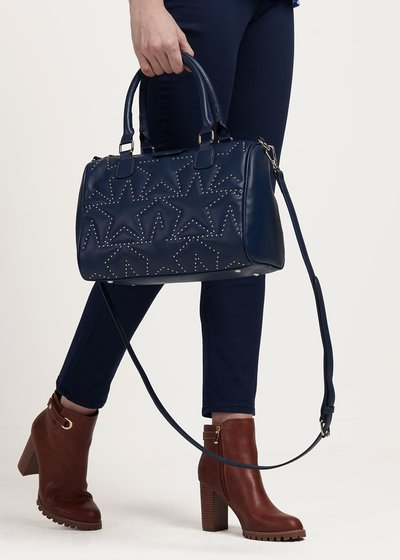 Brigitta bowler bag with micro-studs
