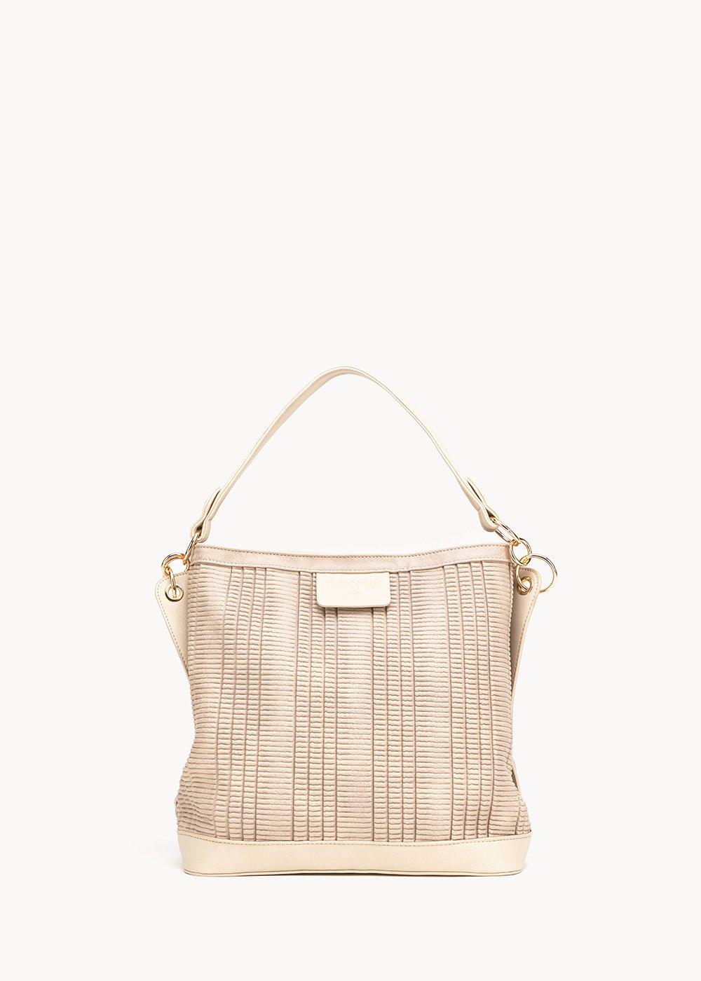 Beky hobo bag with shoulder strap - Light Beige - Woman