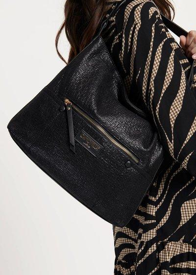 Buklas hobo bag in crinkled fabric