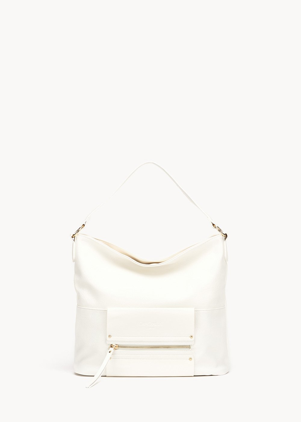Bitsy hobo bag with python details - White - Woman