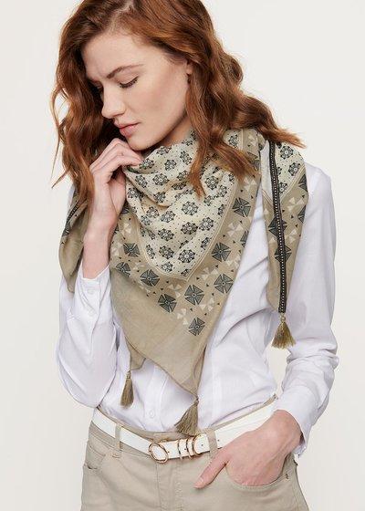 Samuel multi-print scarf