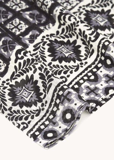 Seraph scarf with majolica print