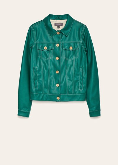 Gomis mint green faux-leather jacket