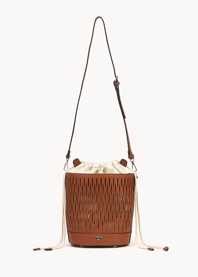 Beverly openwork bucket bag