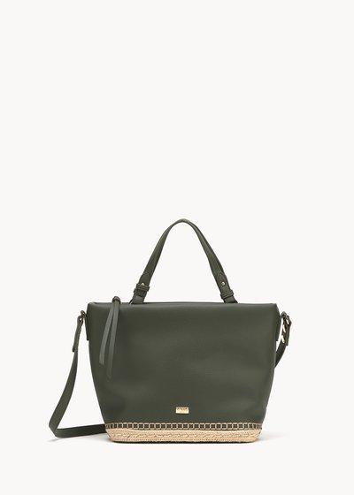 Shopping bag Beltran con fondo intrecciato