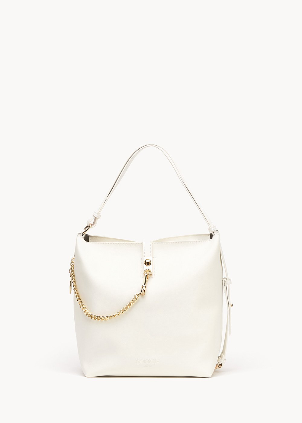 Beth bucket bag with gold details - White - Woman